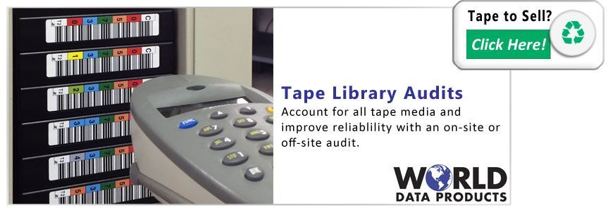 photo of tape library barcode